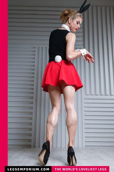Anastasia - Black Red Sculpted Calves Bunny b-COVER