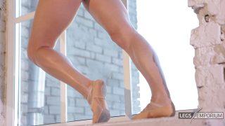 Anastasia - Sculpted Ballerina Calves Flexed in Window 1_5