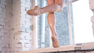 Anastasia - Sculpted Ballerina Calves Flexed in Window 2_0
