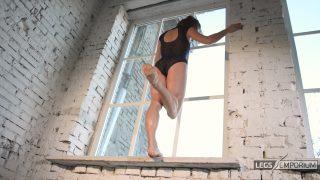 Anastasia - Sculpted Ballerina Calves Flexed in Window 2_2