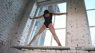 Anastasia - Sculpted Ballerina Calves Flexed in Window 4_1