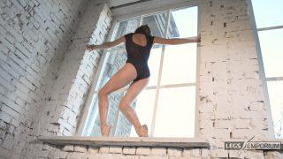 Anastasia - Sculpted Ballerina Calves Flexed in Window 4_3