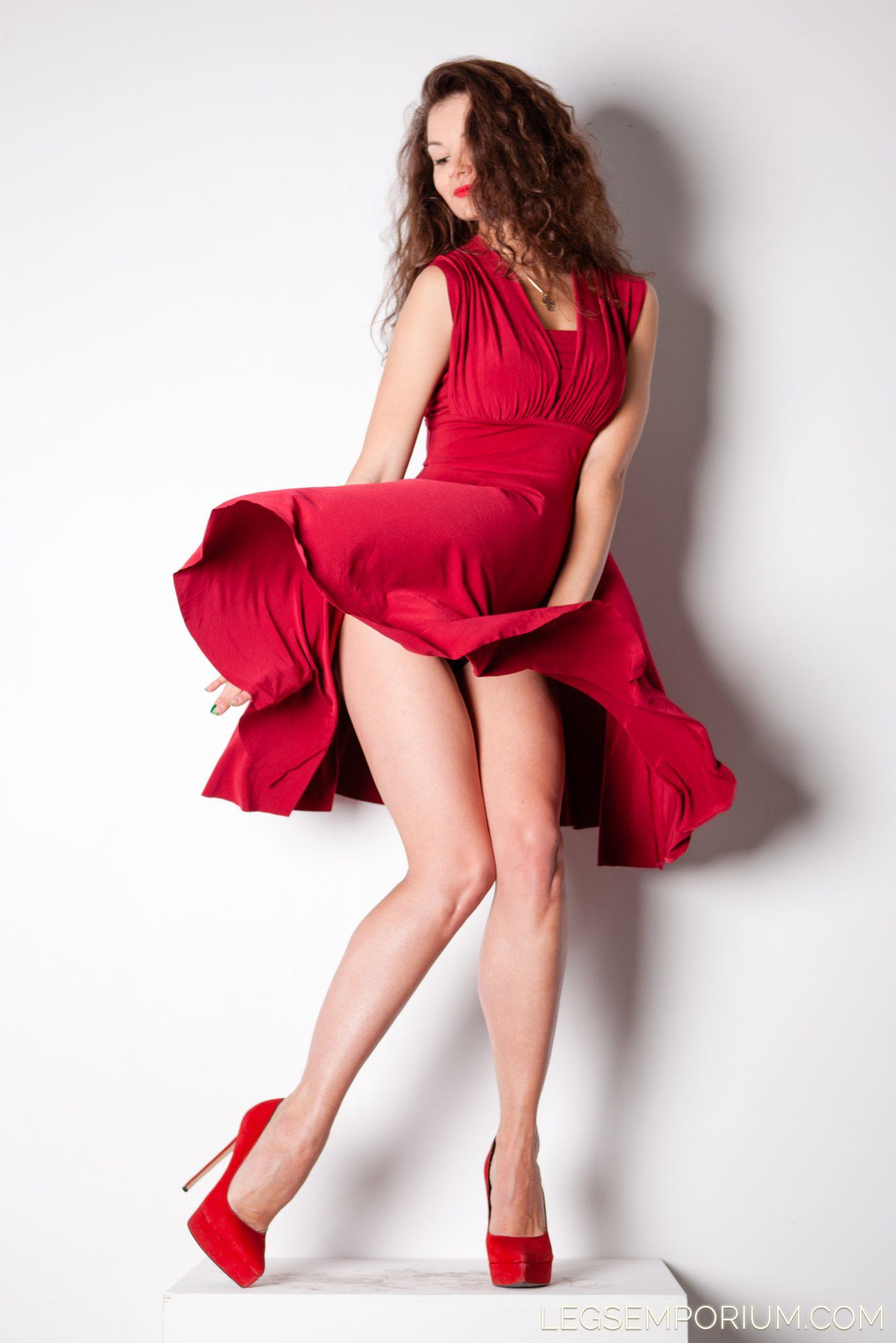 Elena Flirty Red Passionate Legs Emporium