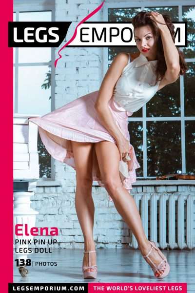 Elena - Pink Pin Up Legs Doll COVER