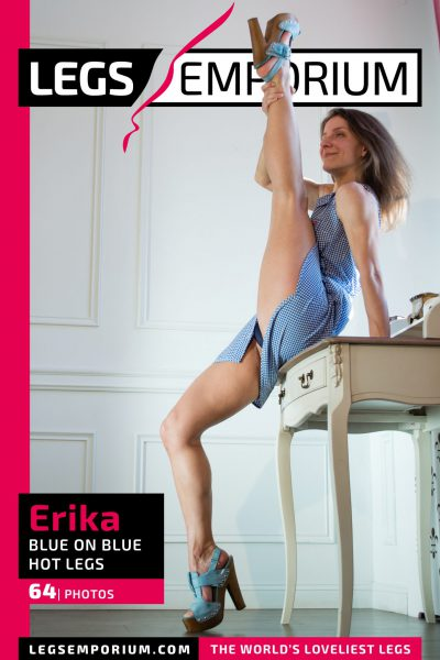 Erika - Blue on Blue Hot Legs_COVER