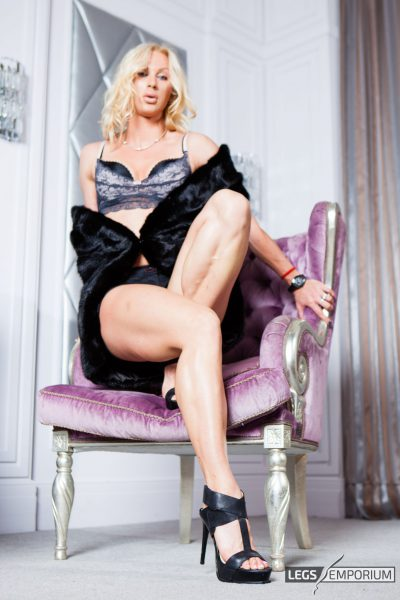 Roxie - Purple Chair and Amazing Legs 02