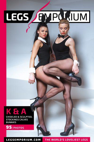 Kaylee & Anastasia - Chiseled & Sculpted, Stockings Calves Bunnies COVER