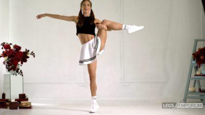 Candice - Mini-Skirt and Beautiful Legs 4K_6