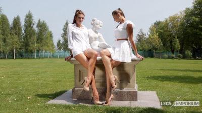 Heather & Liza - Statuesque Long Legs HD _3