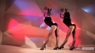 Anastasia & Kaylee - Stockings Covered Leggy Bunny Show - FullHD_0