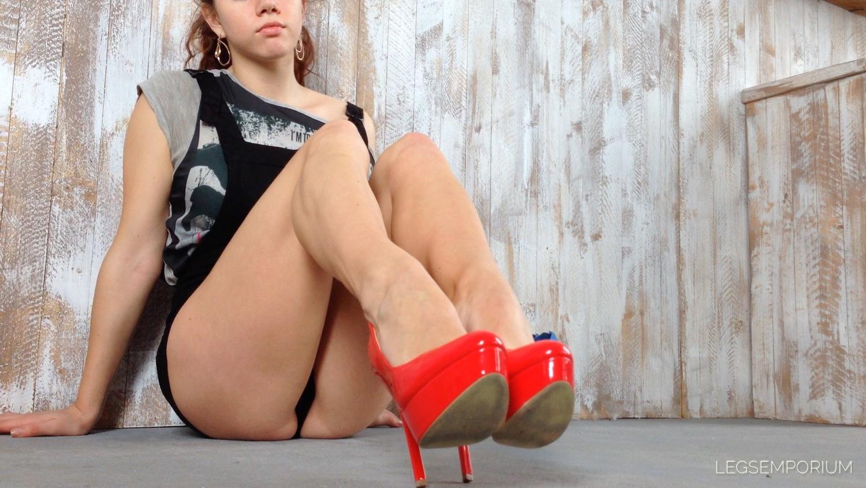 Anastasia - Sweet Sexy Legs In Blue Heels 1  Legs Emporium-8301