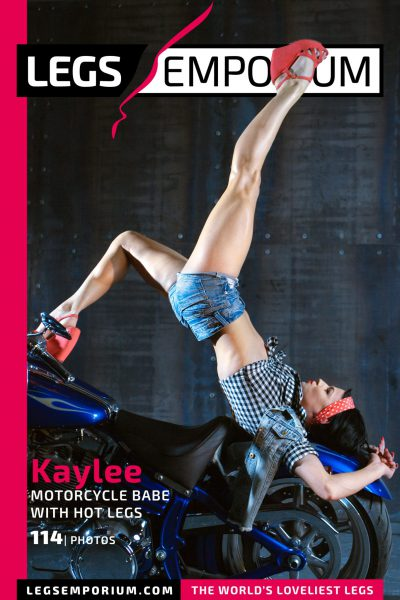 Kaylee - Motorcycle Babe with Hot Legs COVER