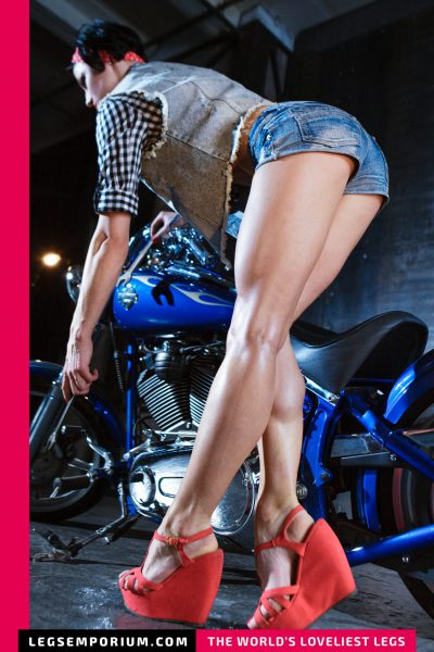 Kaylee - Motorcycle Babe with Hot Legs b-COVER