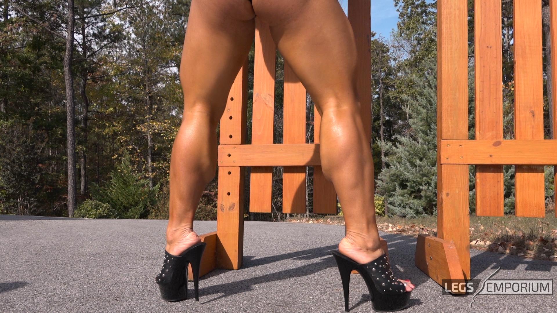 January jones flaunts incredible legs in high
