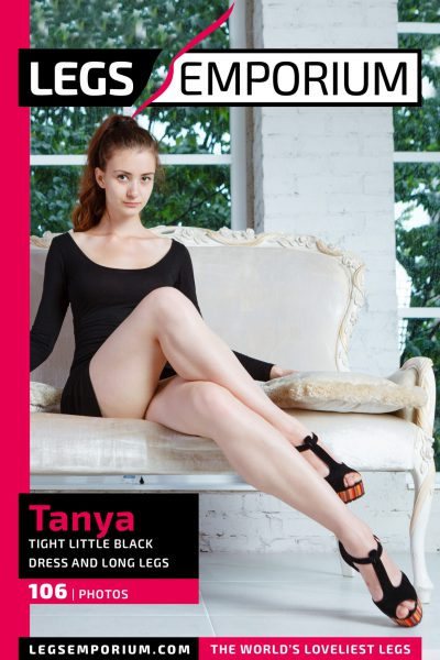 Tanya - Tight Little Black Dress and Long Legs_COVER