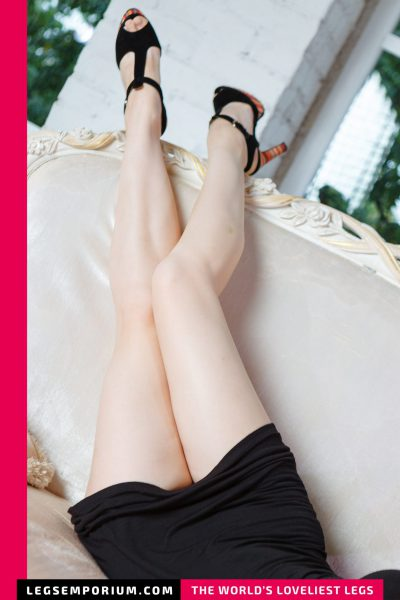 Tanya - Tight Little Black Dress and Long Legs b-COVER